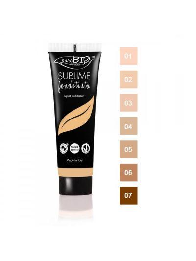 Fondotinta Fluido SUBLIME - PuroBio Cosmetics