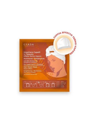 Maschera Capelli in Tessuto Illuminante & Rivitalizzante  - Gyada Cosmetics